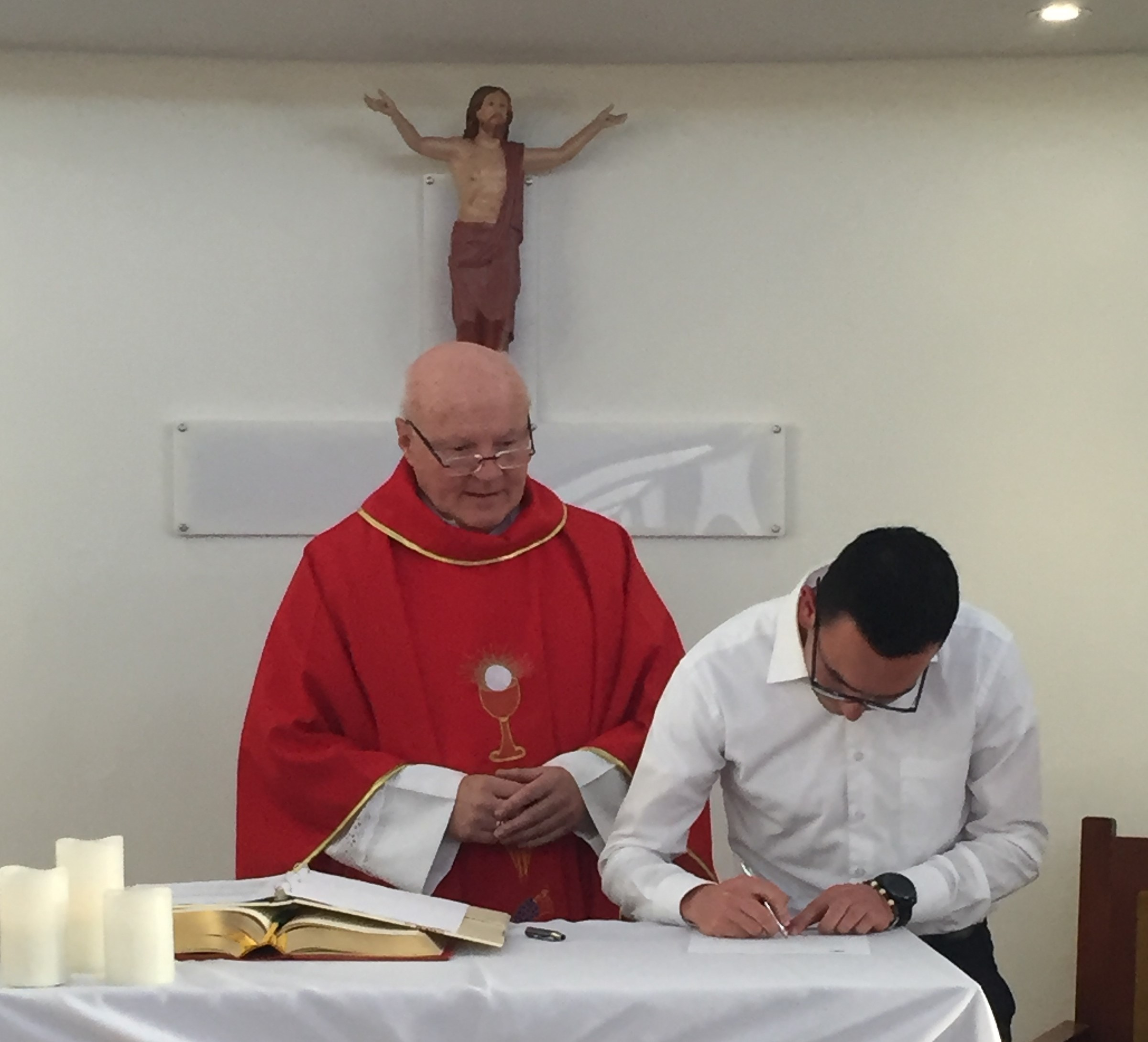 Newest Viatorian Brother Professes First Vows